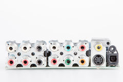Audio and video connectors Royalty Free Stock Images