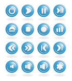 Audio-video control buttons. Royalty Free Stock Photography