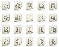 Audio video edit vector web icons, document series Stock Photo