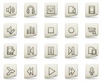 Audio video edit vector web icons, document series Stock Photo