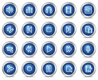 Audio video edit web icons Royalty Free Stock Images