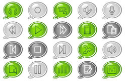 Audio video edit web icons Stock Images