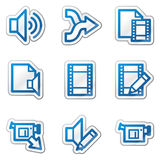 Audio video edit web icons. Vector web icons. Easy to edit, scale and colorize Royalty Free Stock Photography