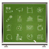 Audio and video icons Stock Photos