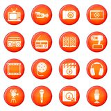 Audio and video icons vector set Royalty Free Stock Photo