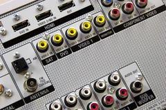 Audio video input Immagine Stock