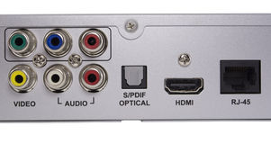 Audio video Inputs Stock Photo