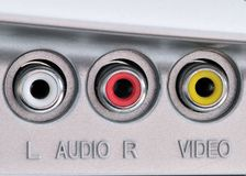 Audio Video Jacks Stock Image