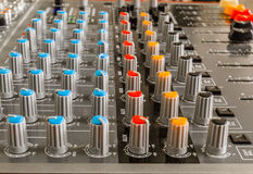 Audio Video Mixing Controller Console Royalty Free Stock Images