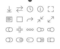 Audio Video Pixel Perfect Well-crafted Vector Thin Line Icons Stock Image