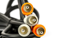Audio-video RCA connectors Stock Images