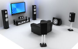 Audio and video room Royalty Free Stock Photography