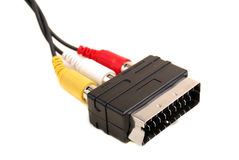 Audio-Video SCART-RCA adapter Stock Photography