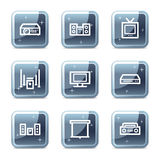 Audio video web icons Royalty Free Stock Photos