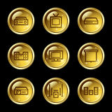 Audio video web icons Stock Photography
