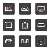 Audio video web icons Royalty Free Stock Photography