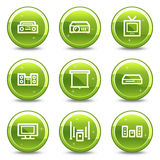 Audio video web icons Stock Images