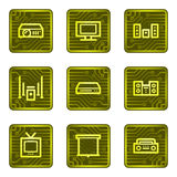 Audio video web icons, electronics card series Stock Photo