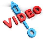 Audio Videokruiswoordraadsels Royalty-vrije Stock Foto's