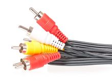 Audio visual cable Stock Image