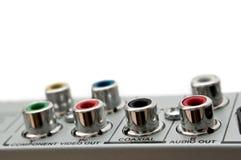 Audio Visual Sockets. Royalty Free Stock Photos