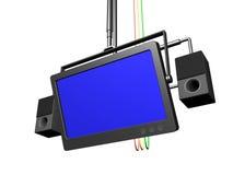 Audio-visuelle Ausrüstung lizenzfreie abbildung