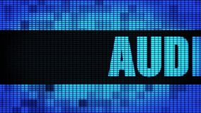 Audio-Wand-Anzeigetafel-Zeichen-Brett Front Text Scrollings LED lizenzfreie abbildung