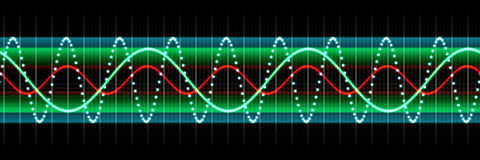 Audio wave display Royalty Free Stock Image