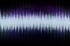 Audio wave form. Graphic background Stock Images