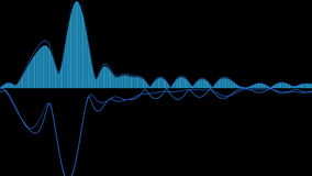 Audio wave forms diagrams equaliser background 3D rendering stock video