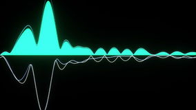 Audio wave forms diagrams equaliser background 3D rendering stock footage