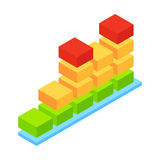 Audio wave isometric 3d icon Royalty Free Stock Photography