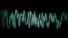 Audio wave line black pixel style stock video footage