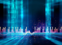 Audio waveform abstract technology background Royalty Free Stock Photos