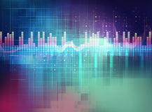 Audio waveform abstract technology background Royalty Free Stock Images