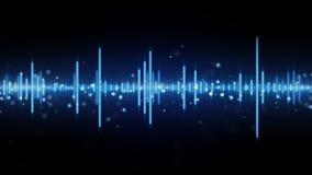 Audio waveform blue equalizer Stock Photos