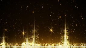 Audio waveform and golden sparkles Royalty Free Stock Photography