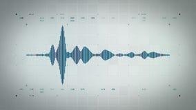 Audio Waveform Mono Błękitny Lite ilustracja wektor