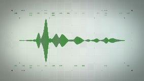Audio Waveform Mono Zielony Lite ilustracja wektor