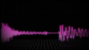 Audio Waveform or Spectrum background for commercials - 30 Seconds - Pink Version.  stock video