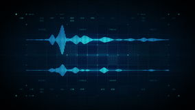 Audio Waveform Stereo Blue