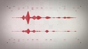 Audio Waveform Stereo Czerwony Lite ilustracja wektor