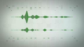 Audio Waveform stereo zieleń Lite ilustracja wektor