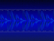 Audio Waveform vector. Background. (only linear gradients Royalty Free Stock Images