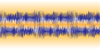 Audio Waveforms Royalty Free Stock Photos