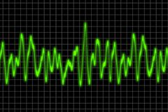 Audio waves. Computer generated illustration of speech vibration wave Royalty Free Stock Photo