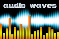 Audio waves Royalty Free Stock Photography