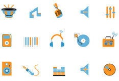 Audio and web icons Royalty Free Stock Photography