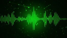 Audio widma waveform abstrakcjonistyczny graficzny pokaz Zdjęcia Stock