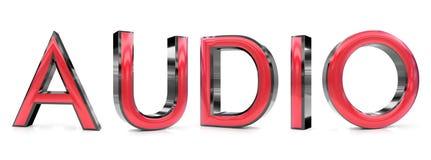 Audio-Wort 3d Stock Abbildung